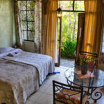 The Casa Lobo Bungalows Poolside Dorm Accommodation is located in San Pedro la Laguna at the Lake Atitlán in Guatemala.