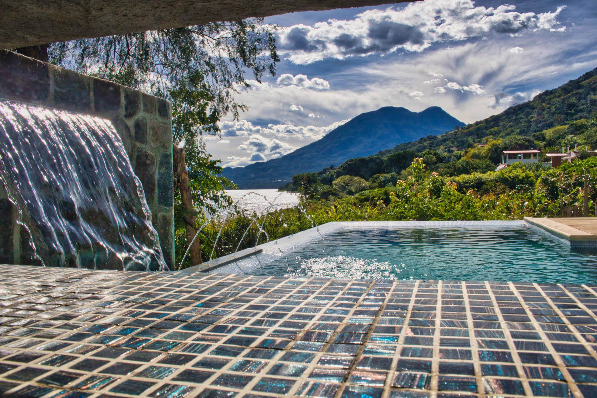 The Casa Lobo Bungalows Sauna is located in San Pedro la Laguna at the Lake Atitlán in Guatemala.